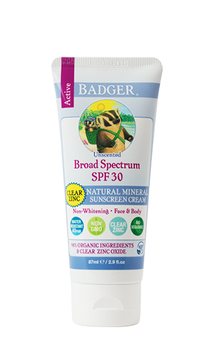 Badger Broad Spectrum SPF 30 Clear Zinc Sunscreen 2.9 oz